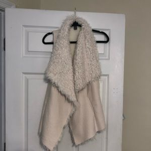 fur and suede vest